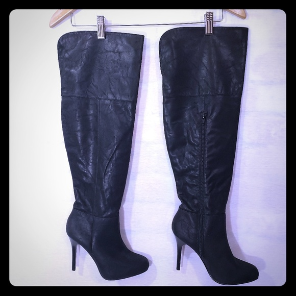 """Report Shoes - EUC Report """"Nichola"""" black over the knee boots"""